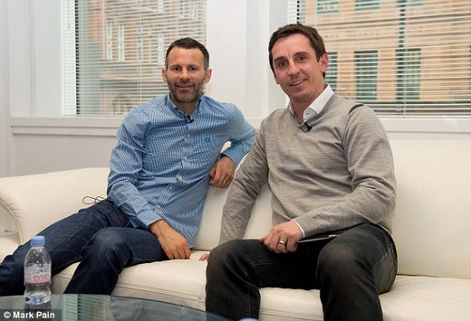 Ryan Giggs (left) came through the ranks at Manchester United with Gary Neville
