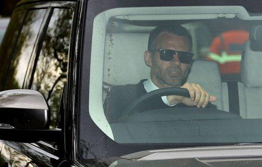 Ryan Giggs leaves Carrington training ground
