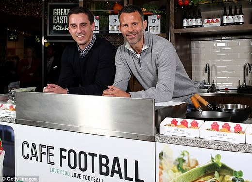 Giggs & Neville say the cafe is focused on quality food with a nod to sport