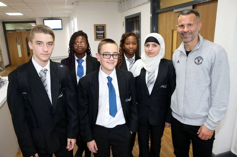 Giggs grew up in Salford after relocating from Cardiff
