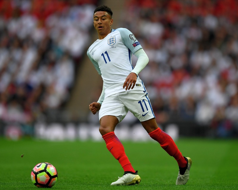 Jesse Lingard made his full England debut against Malta on 08 OCT 2016