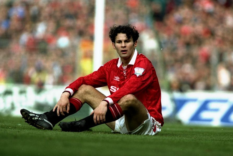 Giggs made his breakthrough as a youngster at Old Trafford