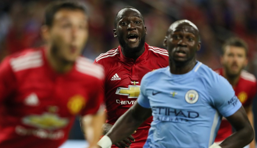 Romelu Lukaku in pre-season action against Man City. CREDIT: GETTY IMAGES.